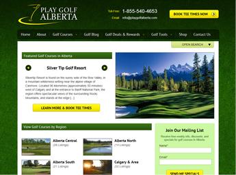 Play Golf Alberta homepage
