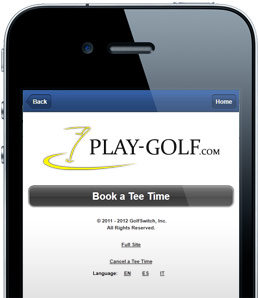 Play-Golf.com Mobile Site